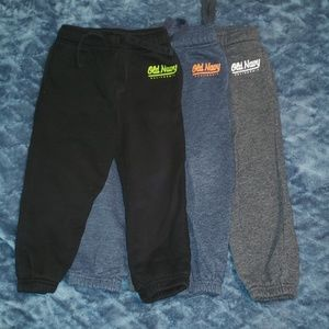 EUC Old Navy Sweatpants 3T (Lot of 3)